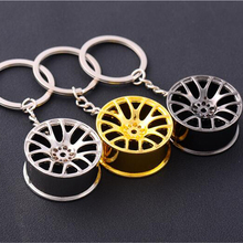 1Pcs New Design Cool Luxury metal Keychain Car Key Chain Key Ring creative wheel hub chain For Man Women Gift