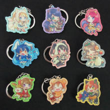 (9 pcs/lot) Love Live x Pocket Monster Cute Pendant LL Sunshine Nico Kotori Eli Final Lovelive Idol Festival Project Acrylic Toy