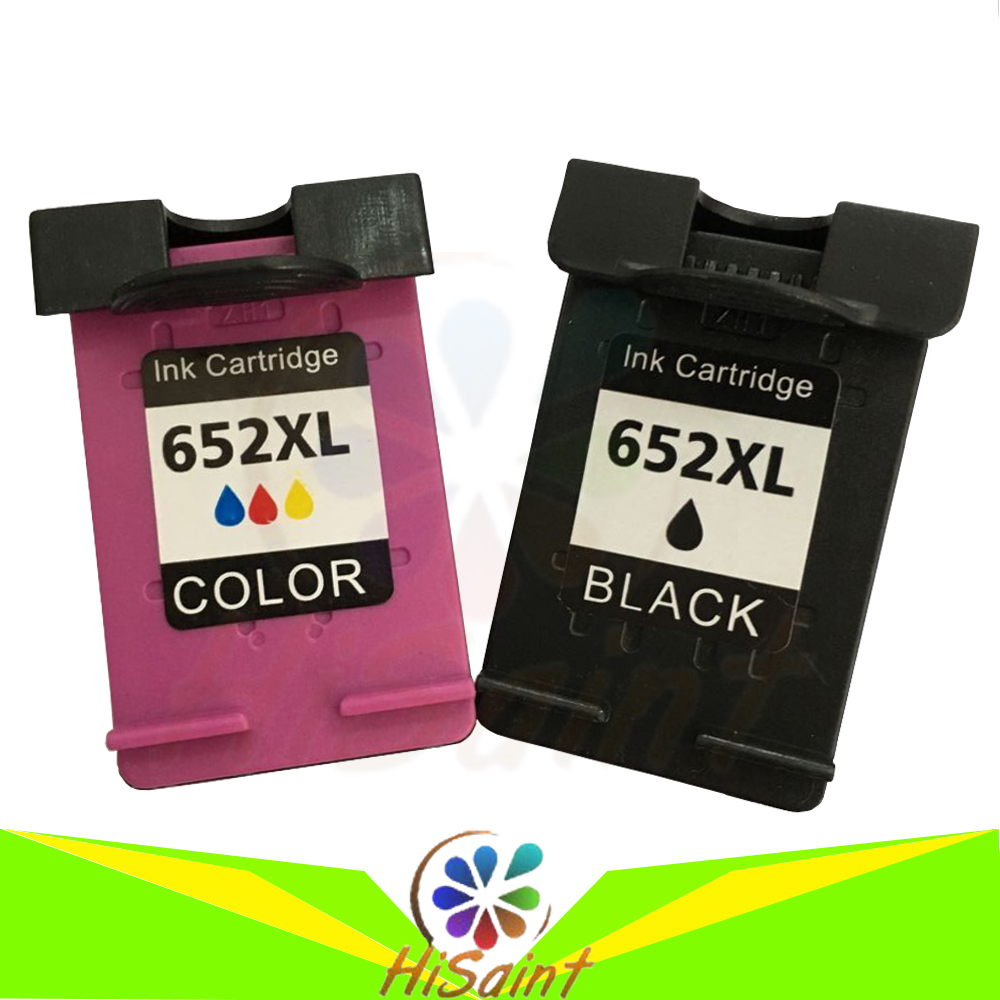 hisaint For HP 652 652XL Ink Cartridge for HP652 Deskjet 1115 1118 2135 2136 3635 3636 3638 4535 4536 4538 4675 4676Printer