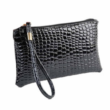 Fahion Handbag Womens Crocodile PU Leather Clutch Handbag Bag Coin Purse Crocodile purse Clutch