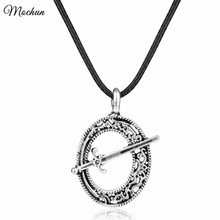 MQCHUN Dark Souls 3 Blade of the Dark Moon Sword Pendant Necklace Antique Silver Color Metal Jewelry With Rope Chain