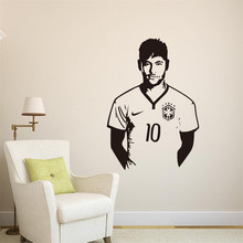 Neymar Junior Soccer Wall Sticker Sports Football Player Wall Decal For Boys Room Decor Barcelona Poster Barca Wallpaper