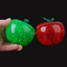 2017 New 3D Clear Puzzle Jigsaw Assembly Model Apple Shape Intellectual Toy Gift Hobby MAY11_10