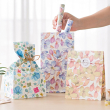 9 sets paper bag natural watercolour flower design gift packaging birthday party candy holding
