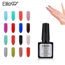 Elite99 10ml One Step Nail Polish Gel 3 in 1 UV LED Soak off Long Lasting Gel Polish Nail Art Varnish All 60pcs In Wholesale
