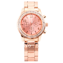 100pcs/lot Excellent Seller Dress Casual Watch No Geneva Logo Crystal Watch Royal Crown Elegance Ladies Watch 5Colors For Option
