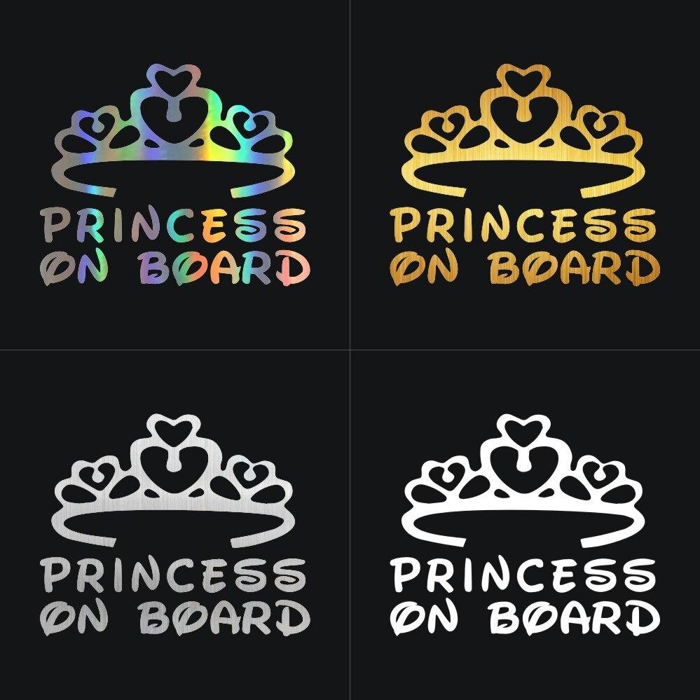 Crown Princess Iris On Board Personalised Baby Girl Car Sign