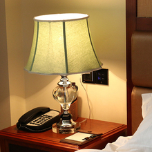 Luxary classic european bedroom table lamp foyer American crystal table light glass tall table lamp bedside hotel table light