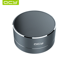 QCY A10 wireless bluetooth speaker metal mini portable subwoof sound with Mic TF card FM radio AUX MP3 music play loudspeaker(China)
