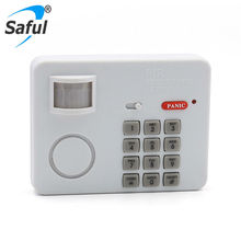 New arrival wireless PIR infrared motion sensor alarm system Security Keypad protect detector with panic button