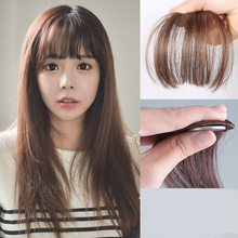 2016  New Fashion Natural Thin Mini Bang Clip In On  Hair Bangs Fringe Extensions Four Color Synthetic Hair For Women