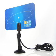 Mayitr 2 Channel NF Digital Digital Indoor Flat Antenna High Gain Antenna 1080i 1080p 720p for HD TV HDTV DTV VHF UHF PC NB