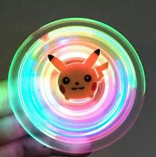 Buy Tri Fidget Hand Spinner Spiner Toy Light Glow Dark LED Lights Triangle Finger EDC Spinner Kids Engrenage Kids Funny Toys for $3.60 in AliExpress store