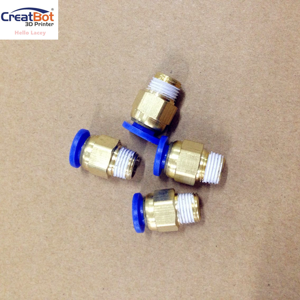 (10 pieces/lot) Quick Coupling Units for CreatBot printer dual extruder/filament feeding Printer 3d DIY Kit <br>