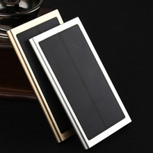 12000mAh Ultra-Thin Matal Solar Power Bank External Battery Pack Dual USB Charger for iPhone iPad Tablet solar charger