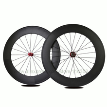 700c carbon clincher wheelset 88mm cycling wheels carbon clincher road wheel with Powerway R13 hub 16 20 24 28 holes WH-R88C