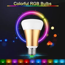 Brightness Led Lights for Home LED Bulb RGB 10W E27 Stage Lamp 12 Colors with Remote Control AC 85-265V RGB + Cool White Golden