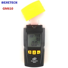 GM610 Handheld Wood Moisture Meter with Temperature Humidity Tester LCD Backlight