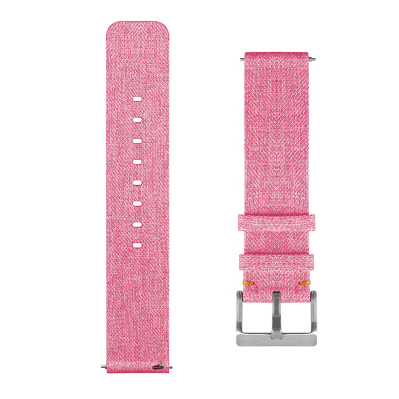 Fine Woven Nylon Strap For Fitbit Versa Smart Wrist Watch Colorful Wrist Strap With Buckle Connector Sport Smartband Watchbands