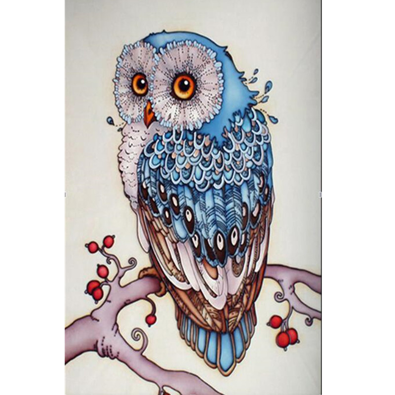 Diy Diamond Painting Cross Stitch Cute Owl Diamond Embroidery Rhinestone Handwork Home Decor Gift