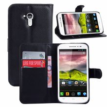Leather Flip Case for Wiko Cink five Phone Cover with Stand Function and Card Holder