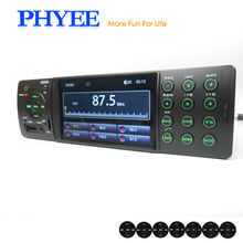 4Inch HD Car Stereo Auto Radio Bluetooth A2DP Tape Recorder Audio Video Players with USB TF Aux Remote Rear Camera In ISO Connec