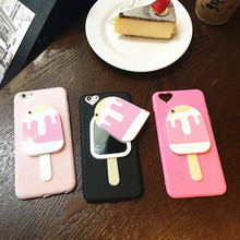 UVR For Iphone 6 6s plus 7 7 plus case cartoon Cool ice cream+mirror heart phone cases cover mobile phone case cover Dust plug