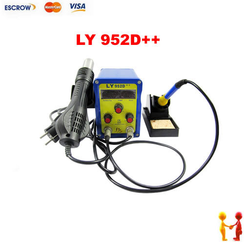 LY mini type soldering station 952D++, dual digital LED 2 in 1 BGA SMD welder<br><br>Aliexpress