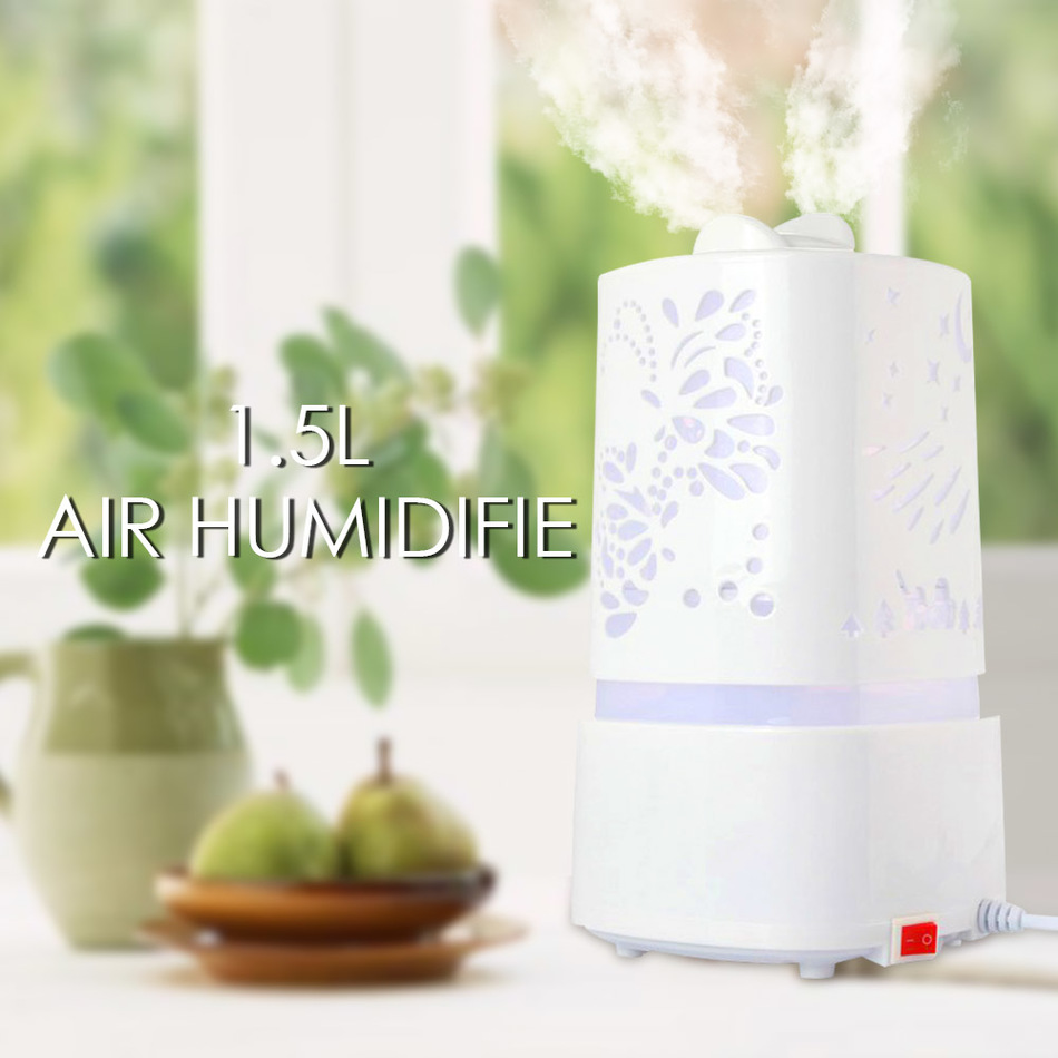 Hot Ultrasonic Humidifier Air Aromatherapy Aroma Diffuser LED 110-240V 25W Light Carve Design Mist Maker Essential Oil Diffuser<br><br>Aliexpress