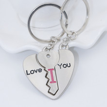 Wedding gift ideas small little gift of love lock couple key chain Lovers keychain friend fashion gifts(China)