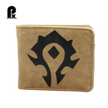 GameThe World of Warcraft Wallets PU Leather Slim Small Wallet WOW Alliance Horde Flag Purse Cool Movie Game Wallet for Men(China)