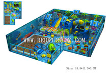 Electronic Kids Indoor Playground Equipment  CE Certificated Nursery Indoor Soft Naughty Castle 150616-B