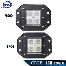 led Work Light 12w 1200LM LED Light Work bar Offroad 4x4 4WD AWD SUV for ATV golf cart 12v 24v Motorcycle driving fog light Lamp(China)