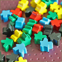 8 PCS Carcassonne Wooden Pawns Board Game Pieces 5 Colors Meeples DIY Good Quality(China)