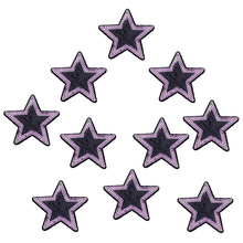10PCS Sequin Five-Pointed Star Patches for Clothes Iron on Transfer Sequin Applique Patches for Clothes Sew on Embroidery Patch(China)