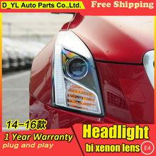 Car Styling Headlights for Cadillac ATS 2014-2016 LED Headlight for ATS Head Lamp LED Daytime Running Light LED DRL Bi-Xenon HID