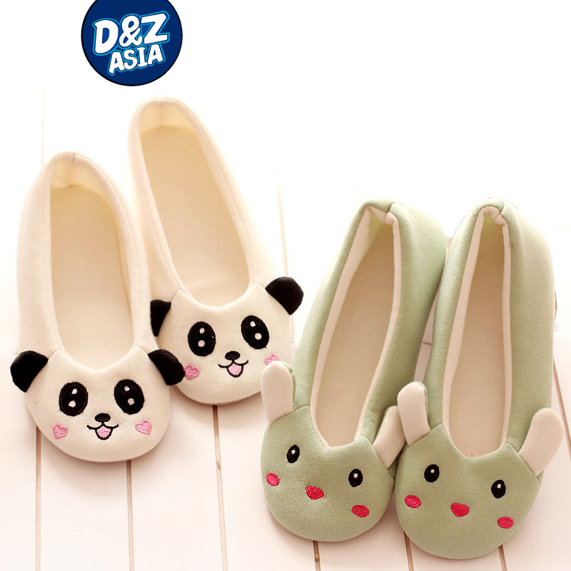 Cartoon panda bunny ears raccoon soft shoes for pregnant women home indoor slippers<br><br>Aliexpress