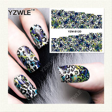 YZWLE 1 Sheet DIY Decals Nails Art Water Transfer Printing Stickers Accessories For Manicure Salon YZW-8120(China)