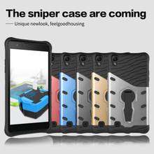 For for LG X Power PC + Silicone 3D Heavy Duty Military Anti Shock 360 degree rotation Kickstand Armor Case For LG X Power case