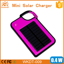 Free shipping! fashionable solar keychain charger 1450mah with hanging function