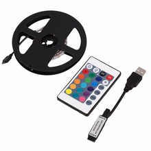 3528 RGB LED Stripe Light 0.5/1/2/3/4M Non-Waterproof 4PIN Flexible Home TV Background Light Kit + Remote Control White 2017 Hot