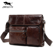 CROSS OX New Wax Leather Series Messenger Bag For Men Bag Genuine Leather Shoulder Bags Cross Body Bags Vintage Satchel SL395M(China)