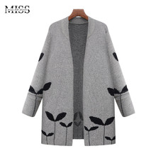 MISSFEBPLUM 2017 Women Long Cardigans and Poncho Knitted Open Stitch Cardigan Female Plus Size Casual Outerwear Cashmere Jacket(China)