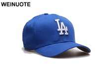 Men's Los Angeles Dodgers Adjustable Strapback Blue LA Hats Sport classic New York Baseball Hat bone Fashion Caps For Women(China)