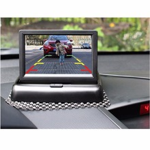 "4.3"" Foldable Car-styling TFT LCD Monitor+Car Rear View System Backup Reverse Camera Reversing Vehicle Entertainment for Trunk"