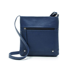 Bolsas 2017 Fashion Men Leather Satchel Crossbody Handbag Ladies tops Shoulder bags Women Messenger bags Blue Bolsas de ombro
