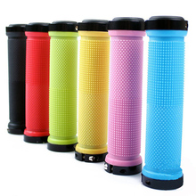 bicycle bike grips lock mountain bike cycling grip mtb handlebar grips handle bar grips for bicycle handle bicycle parts(China)