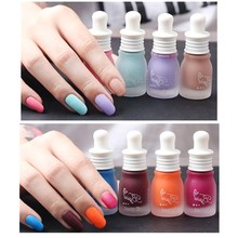 30 colors fashion Women Gel Matte Nail Enamel Polish UV Led Dull Nail Polish Milk Bottle Design