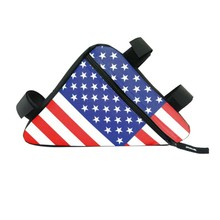 Buy American Flag Holder Saddle Bag Waterproof Triangle Cycling Bicycle Bags Front Tube Frame Bag Mountain Triangle Bike Pouch for $2.36 in AliExpress store