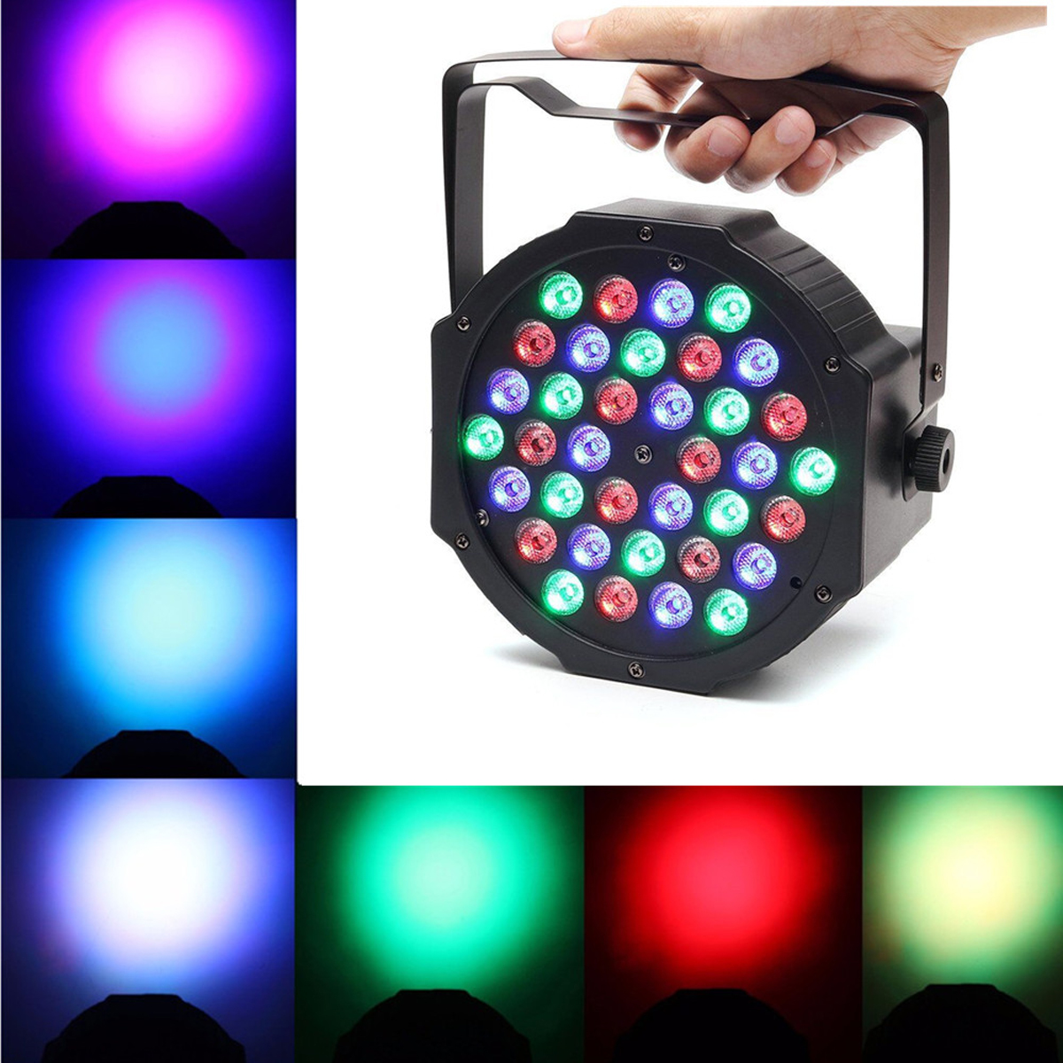 Stage Light 36W 36 LED RGB Par Light DMX512 Master Slave LED Flat DJ Equipment Controller Discos KTV Music Light<br>